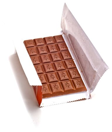 Chocolate in a opened wrapper  photo