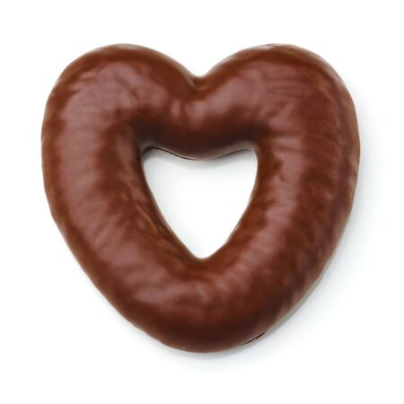 endorphines: Gingerbread heart shaped, cookie covered with milk chocolate