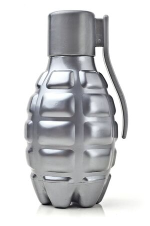 handgrenade: Model grenade. Grenade-shaped bottle. Vertically.
