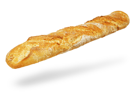 baguet: Fresh Baguette, over the white background.