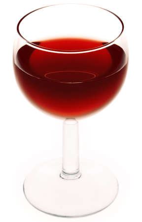 syrah: Glass of Red Wine. Isolated on a white background.