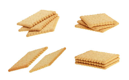 Set of Biscuits. Isolated On White Background.
