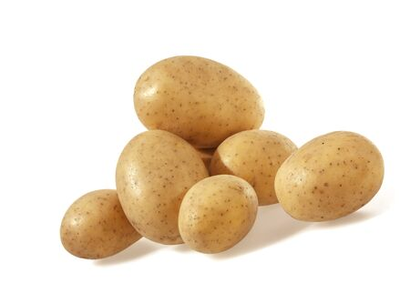 Potatoes isolated on white background.