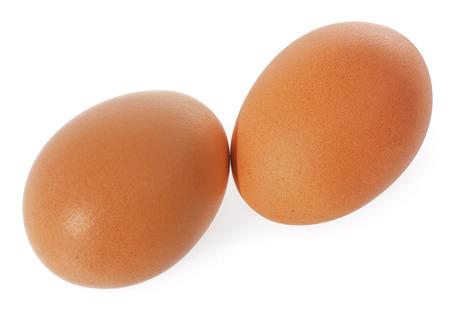 Eggs isolated on white background. Stock Photo