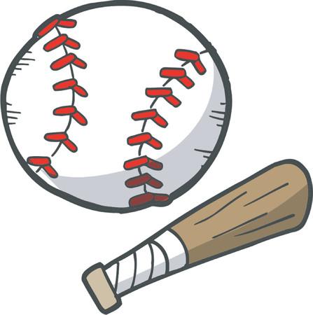 Baseball Vector Elementen Stock Illustratie