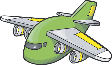 Jumbo Jet Vector Illustration Stock Vector - 892571