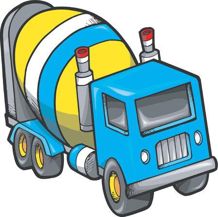 cement truck: Cement Truck Vector Illustration