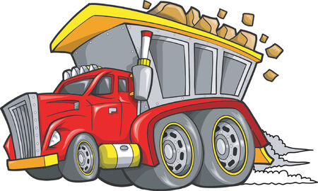 dump truck: Dump Truck Vector Illustration Illustration