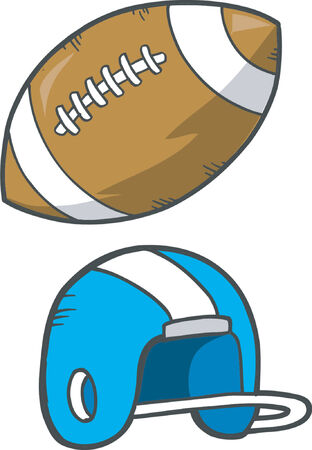 american football helmet set: Football Vector Illustration Illustration