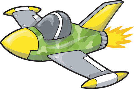Jet Fighter Vector Illustration 向量圖像