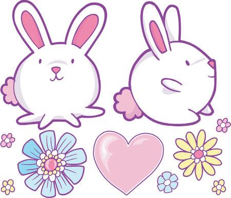 bunnie: Cute Bunny Vector Illustration & Design Elements