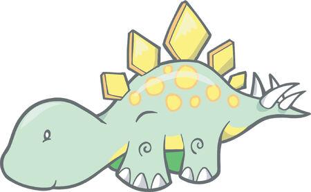 Stegosaurus 공룡 벡터 일러스트 레이션