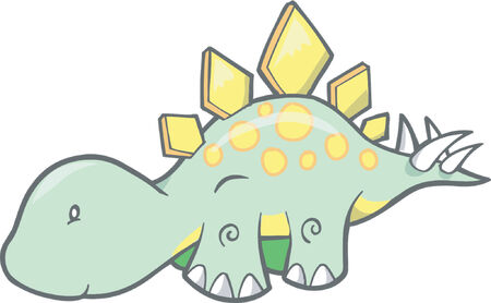 stegosaurus:  Stegosaurus Dinosaur Vector Illustration Illustration