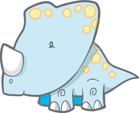 Triceratops Dinosaur Vector Illustration Stock Vector - 892603