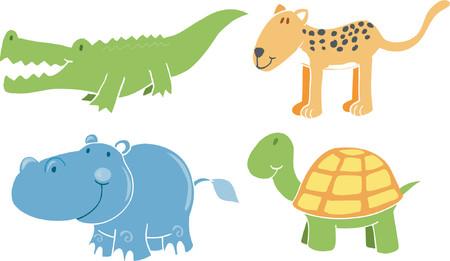 cocodrilos: Ilustraci�n del vector de los animales del safari