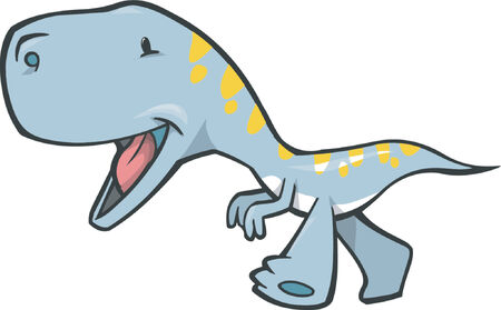 extinction: Cute Tyrannosaurus Dinosaur Vector Illustration