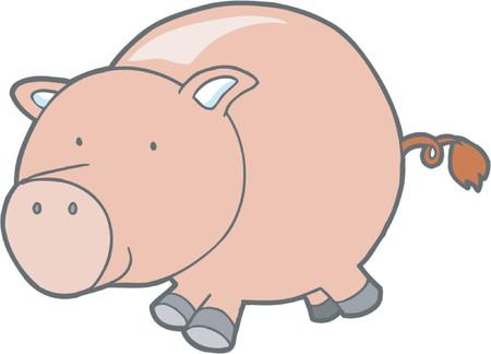domesticated: Vector Illustration of Pig Illustration
