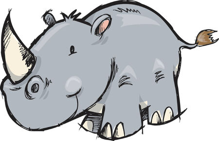 rhinoc�ros: Rhinoceros Vector Illustration