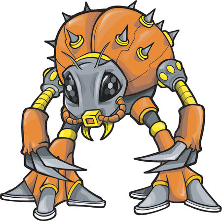 Robotic Monster Vector Illustration 일러스트