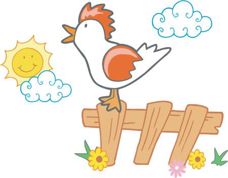 Stock Vector Illustratie: Rooster