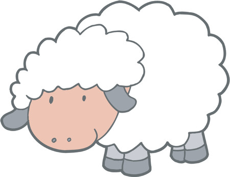 baa: Vector Illustration of Sheep Illustration
