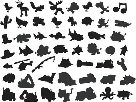 zorrillo: Vector silueta colecci�n  Vectores