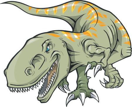tiranosaurio rex: Vector Ilustraci�n de un T-Rex Dinosaur