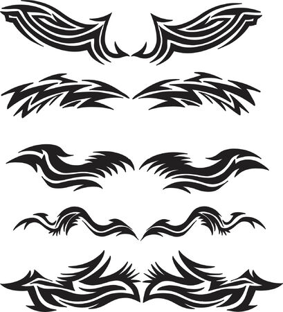 sharp curve: Tribal  Vector Elements