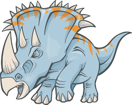 triceratops: Vector Illustration of a Triceratops Dinosaur