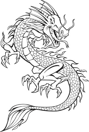 snake year: Ilustraci�n vectorial de drag�n