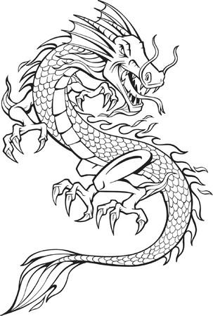 Vector illustratie van Dragon Stock Illustratie