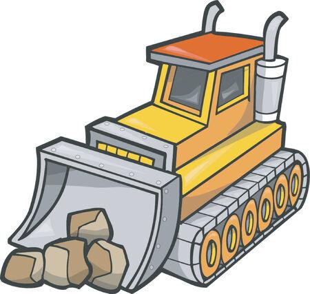 Bulldozer Vector Illustration Vector