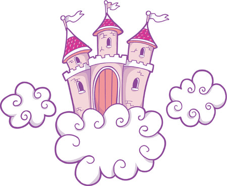 Vector Illustration of a Castle