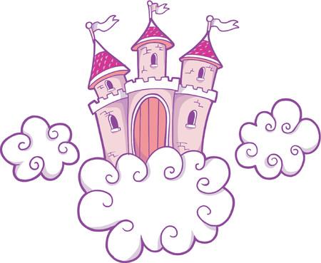 Vector Ilustración de un castillo  Foto de archivo - 921992