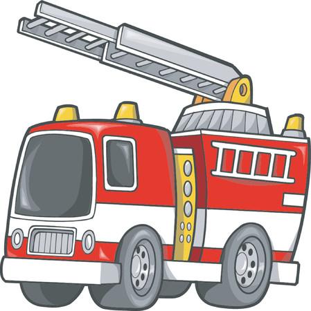carro bomberos: Cami�n de bomberos ilustraci�n vectorial