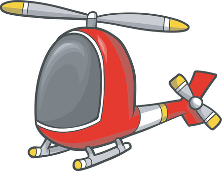 Vector Illustration of Helicopter Ilustracja