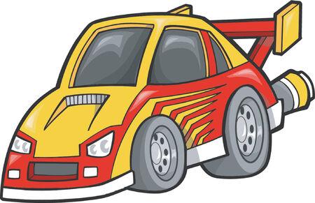 racecar: Race-Car Vector Illustration Illustration