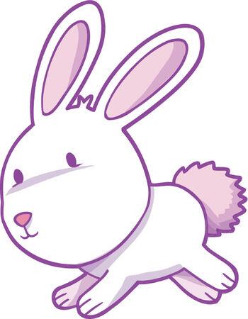 wit konijn: White Rabbit vector illustration