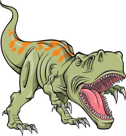 dinosauro: Illustrazione vettoriale di un T-Rex Dinosaur