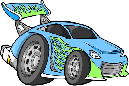 hotrod: Vector Illustration of a Street Race Car Illustration