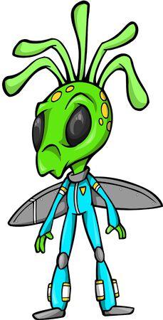 Alien Vector Illustration Vector