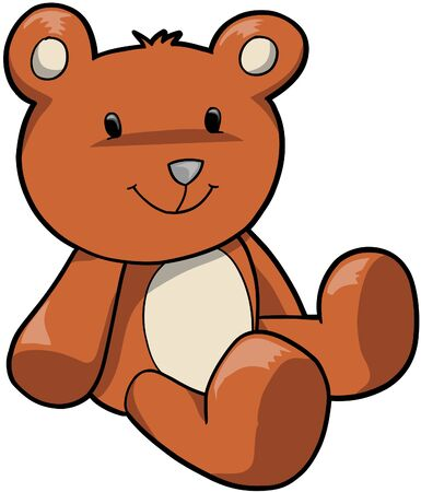 stuffed animals: Teddy Bear Vector Illustration
