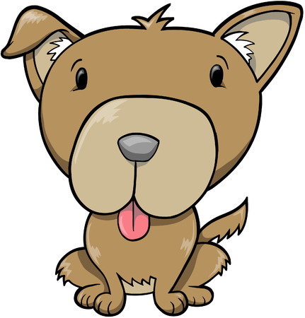 Dog Vector Illustration Stok Fotoğraf - 1696822