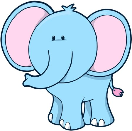 illustration zoo: Elephant Vector Illustration Illustration