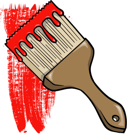 Paint Brush Vector Illustration Çizim