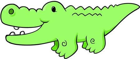 Safari alligator Vector Illustration Vector