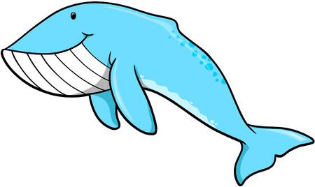 ballena azul: Ballena Azul ilustraci�n vectorial
