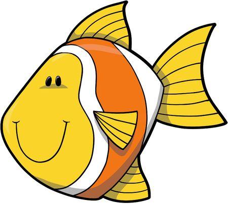 fishes: Clown Fish Vector Illustration