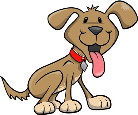 Happy Dog Vector Illustration