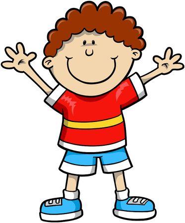 Kid Vector Illustration Illustration